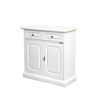Klassisch lackiertes Cupboard 2 Türen 1 Schublade