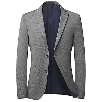 Mile Men's Houndstooth Single Row Two Buttons No Slit Casual Suit