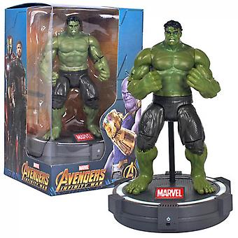 The Avengers! Marvel! Hulk Movable Doll, 17cm, Luminous Base, Children's Toys, Holiday Gifts, Men's Collection
