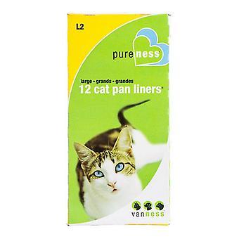 Van Ness Cat Pan Liners - Large (12 Pack)