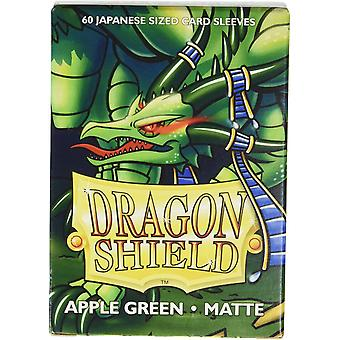 Dragon Shield Matte Apple Green Japanese Size Card Sleeves - 60 Sleeves