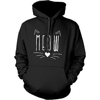 Meow söpö kisu kohdata Naisten huppari lahja katti rakastavaiset huppari