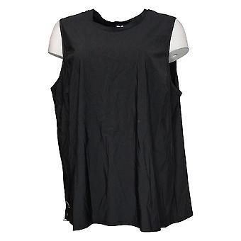 Marla Wynne Women's Plus Top Sleeveless Nylon Black 668606