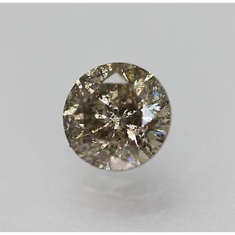 Cert 0.70 Carat Brown Silver SI2 Round Brilliant Natural Loose Diamond 5.53mm