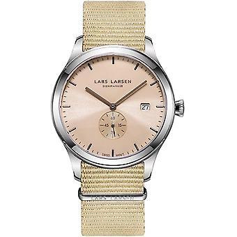 LLarsen (Lars Larsen Beige Nylon) 129SAAN Men's Watch