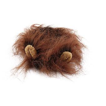 Icoco love you pet costume lion mane wig for cat halloween christmas party dress up with ear