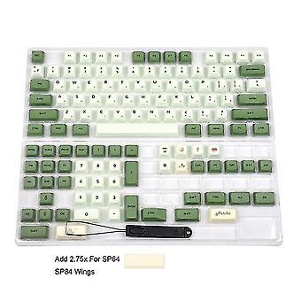 Matcha Dye sub zda pbt Tastenkappe ähnlich wie xda japanisch koreanisch russisch für mx Tastatur 104 87 61