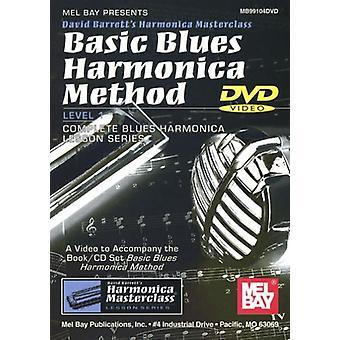 David Barrett - importation USA base Blues Harmonica méthode niveau 1 complet bleu [DVD]