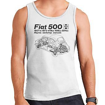 Haynes Workshop handmatige Fiat 500 mannen Vest zwart