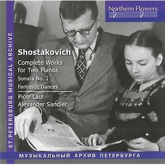 Laul / Sandler - Shostakovich - Complete Works for Two Pianos [CD] USA import