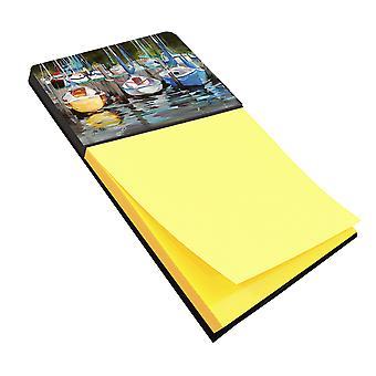 Carolines Schätze JMK1084SN gelbe Boot Segelboot Sticky Note Holder