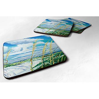 Carolines Treasures  JMK1271FC Set of 4 Sea Oats Foam Coasters