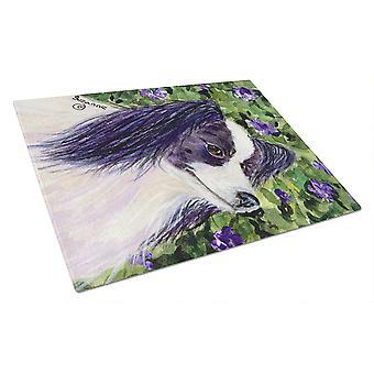 Carolines Treasures  SS8896LCB Papillon Glass Cutting Board Large