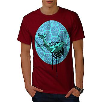 Whale Fish Cute Animal Men RedT-shirt | Wellcoda