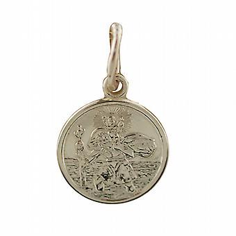9ct золота 10 мм раунд St Кристопер Кулон только подходит для детей