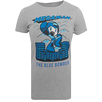 Capcom Women's Mega Man Blue Bomber Premium Fitted T-Shirt - Dark Heather Gray