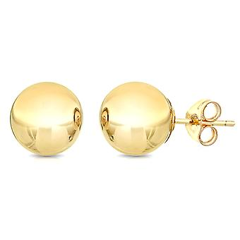 Boucles d'oreille boule d'or jaune 14K