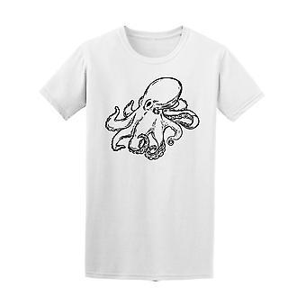 Octopus dessiné Tee masculine à main-Image de Shutterstock