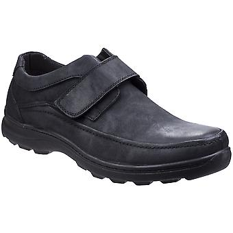 Fleet & Foster Mens Hurghada Touch Fastening Luxury Leather Shoes