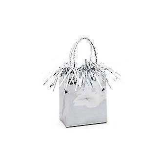 Ballong vikt Mini handväska Silver