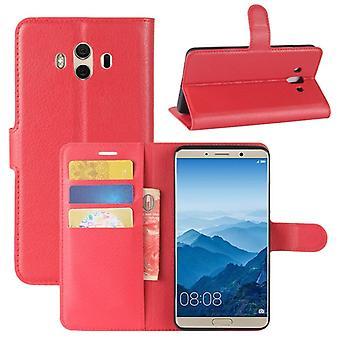 Prémio de carteira de bolso vermelho para Huawei companheiro 10 proteção luva capa case bolsa nova