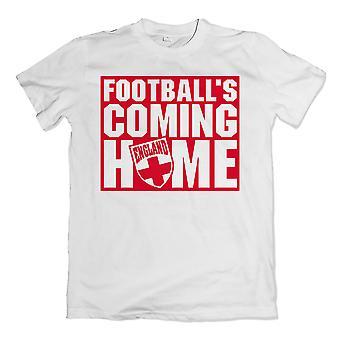 Engeland voetballen Coming Home T-Shirt (wit)
