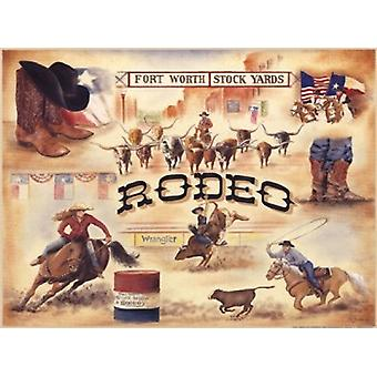 Rodeo Poster Print by Pam Britton (16 x 12)