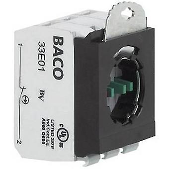 BACO 334E22 Contact + fixing adapter 2 breakers, 2 makers momentary 600 V 1 pc(s)