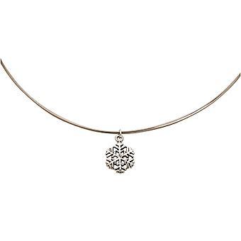 Gemshine kvinners halskjede anheng SCHNEEFLOCKE 925 sølv 1,3 cm