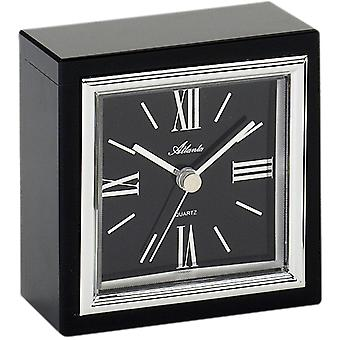 Atlanta 3057 style clock table clock quartz analog with glass Black Roman numerals