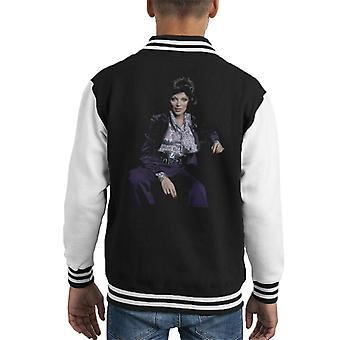 TV volte Joan Collins a Varsity Jacket casa 1971 capretto