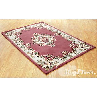 Royal Indian Rose Schattierungen von Creme, grün und Beige auf eine rose Kreis Teppiche traditionelle Teppiche