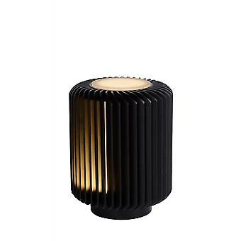 Lucide Turbin modernen Zylinder Aluminium schwarz Tischlampe