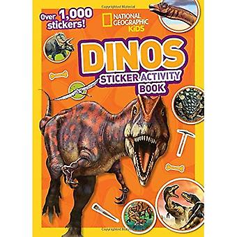 Cahier d'activités de Dinos autocollant