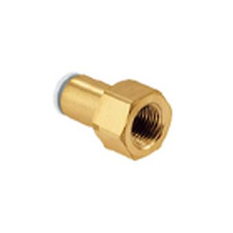 SMC Pneumatic Straight Threaded-To-Tube Adapter, Rc 3/8 Female, Push In 8 Mm