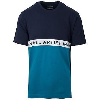 Marshall Artist Navy & Teal Short Sleeve T-Shirt