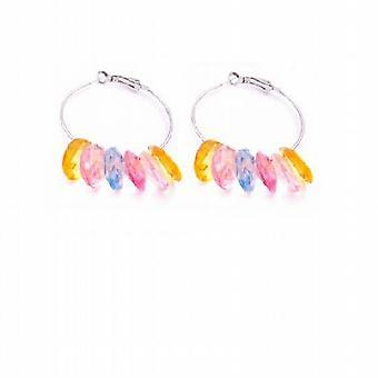 Looking For Hoop Earrings Multcolor Gorgeous Glass Beads Earrings