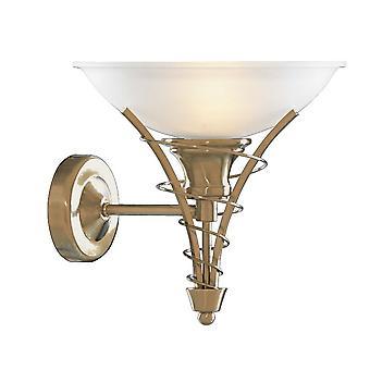 Linea Antique Brass i Opal szklana ściana światła - Searchlight 5227AB
