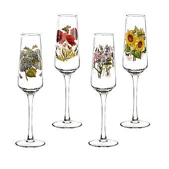 Portmeirion uppsättning 4 Botanic Garden Champagne flöjter