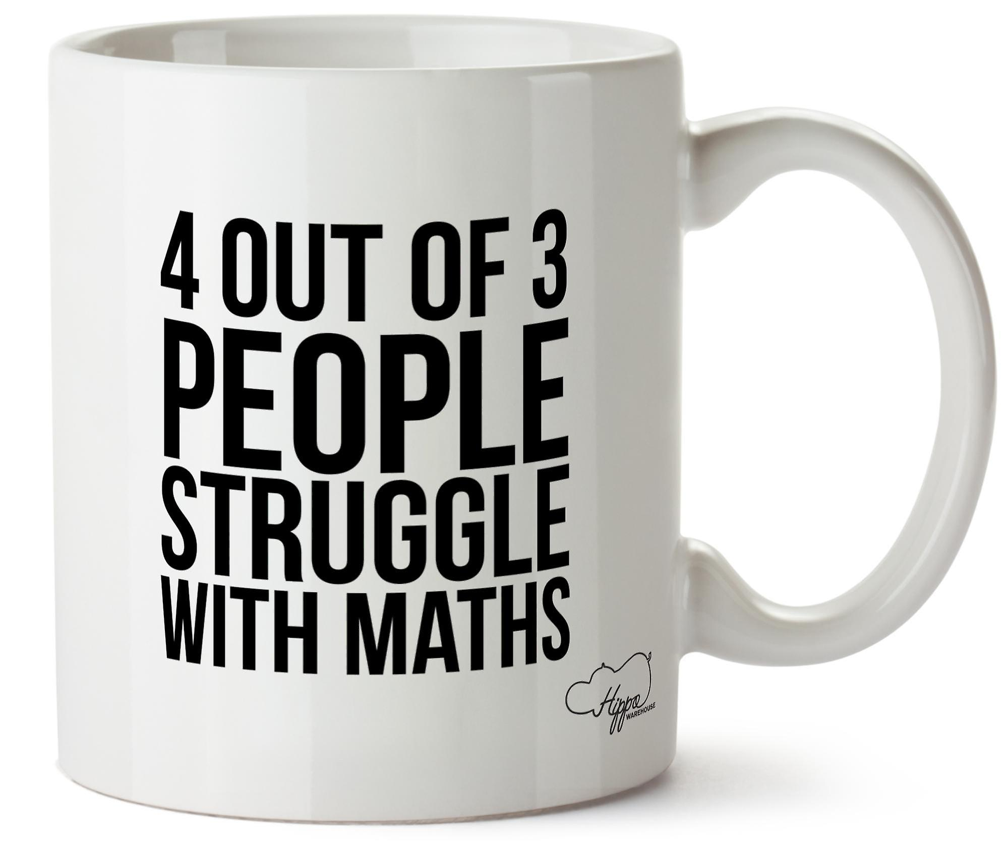 Hippowarehouse 4 из 3 людей борьба с математика печатных Кубка керамическая кружка 10oz