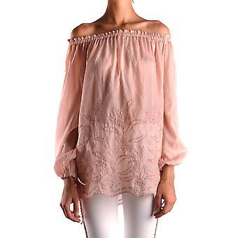 Pinko Ezbc056140 Women's Pink Cotton Blouse