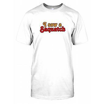 Je vis un Sasquatch - Conspiracy Mens T Shirt