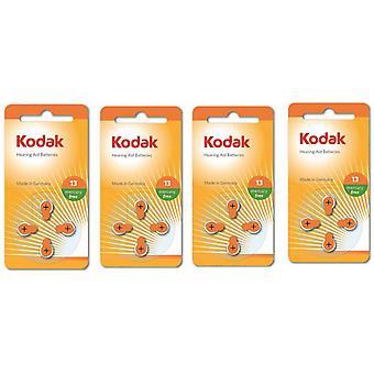 16-Pack Kodak Zinc-lucht gehoorapparaat batterijen 13, A13, PR48, oranje kleur