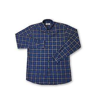 Ingram shirt in blue and white tartan pattern