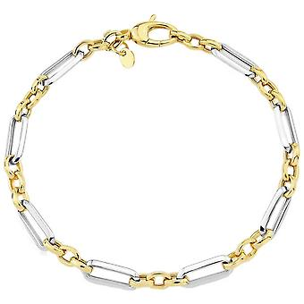 Mark Milton Circle and Oval Link Bracelet - Yellow Gold/Silver