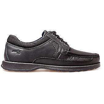 POD Boys Rally Lace School Shoes Black