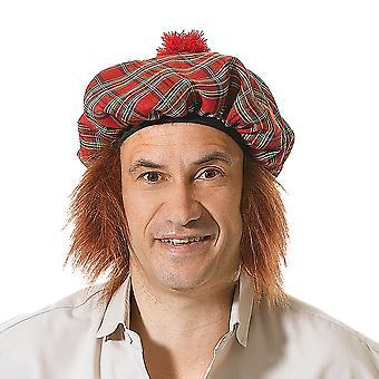 Bristol Novelty Unisex Adults Scots Tartan Hat And Hair