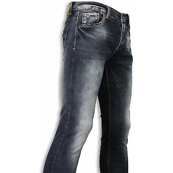 Basic Jeans - Blue Stone Washed Regular Fit - Blauw