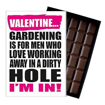 Śmieszne walentynki prezent dla Gardener Chocolate pozdrowienia karty ogrodnictwo Present IYF190