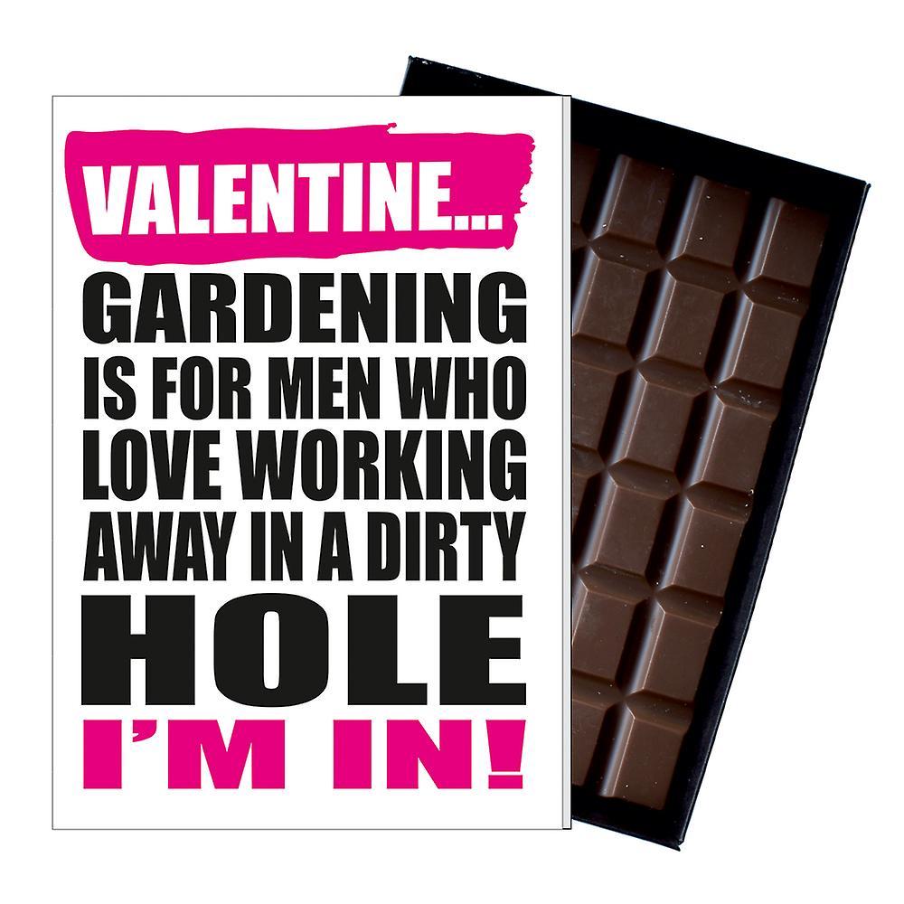 Funny Valentines Gift for Gardener Chocolate Greetings Card Gardening Present IYF190